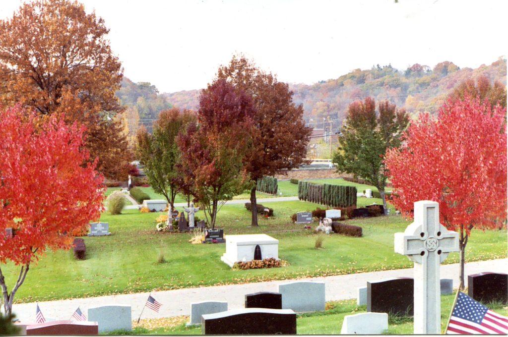 Peaceful cemetery